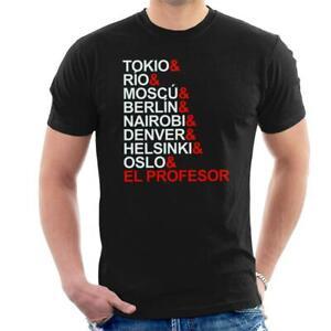 La Casa De Papel Character List Men's T-Shirt