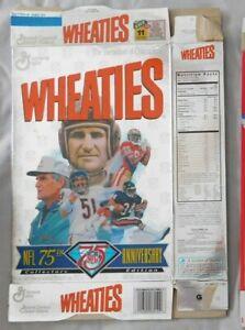 Don Shula Walter Payton Jerry Rice & Dick Butkas Wheaties Cereal Box