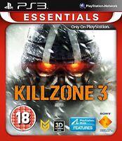 Killzone 3 PS3 PlayStation 3 Essentials Game PAL