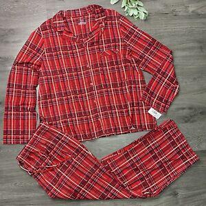 CABERNET Women's Plus 2XL Plaid Sleep Sense Pajama Set Pant Top NWT