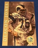 Deacon Jones 1998 Hall Of Fame Platinum Signature Series Auto Card HOF /2500