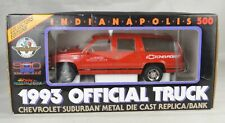 """Official Truck 1993 Indy 500 Chevrolet Suburban Bank 8 3/4"""" Long Mint With Box"""