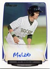 2013 Bowman Max White Prospect Autograph Card BPA-MW Colorado Rockies