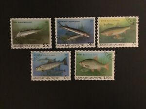 Azerbaycan Fish 1993 Stamps x 5 values CTO