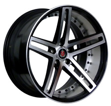 "19"" AXE EX20 ALLOY WHEELS TO FIT AUDI A3 A4 A6 TT BLACK POLISHED"