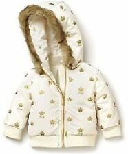 JUICY COUTURE GIRLS' CROWN PRINT PUFFER JACKET ANGEL/GOLD SZ 12 MONTHS NWT $148
