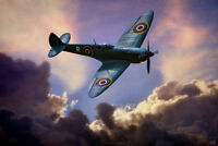 Spitfire Clouds by Chris Lord Photo Art Print Poster 12x18 inch