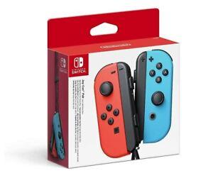 Mandos Para Consola Nintendo Switch JoyCon Rojo y Azul Neon Original Set Nuevo