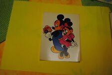 cp carte postale vintage  année 70 walt disney : mickey et minnie