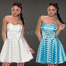 Plus Size Shoulderless 50s Rockabilly Mesh Stripe Strapless Skater A-Line Dress
