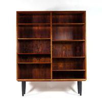 Retro Vintage Danish Omann Jun Large Rosewood Bookcase Book Cabinet 50s 60s 70s