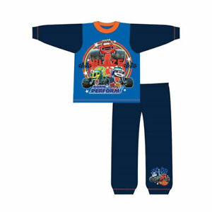 NEW BOYS BLAZE AND THE MONSTER MACHINES PYJAMAS SET TOP & TROUSERS 100% COTTON