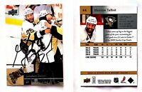 Maxime Talbot Signed 2009-10 Upper Deck #44 Card Pittsburgh Penguins Autograph