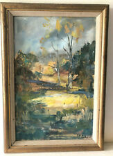 Impressionist Landscape Oil Painting Signed by KiKi Phillips With Gold Frame