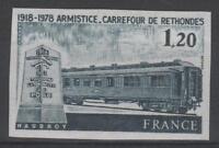 "FRANCE YVERT 2022 SCOTT 1621 "" RAILROAD CAR RETHONDES IMPERF 1978 "" MNH VVF M095"