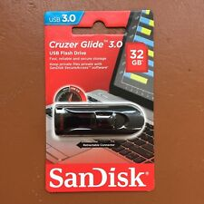 NEW SanDisk 32GB CRUZER GLIDE USB 3.0 Flash Drive High Speed Memory Stick