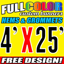"""16 Oz FLEX VINYL PVC Outdoor Indoor personalized  Banners  (48"""" x 300"""") Inches"""