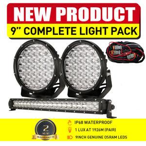 "LED Driving Lights 9inch Spot Round 22"" Light Bar Combo Slim OSRAM Work Offroad"