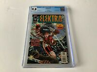 ELEKTRA 1 CGC 9.8 WHITE PAGES WOLVERINE BULLSEYE VARIANT COVER MARVEL COMIC 1996