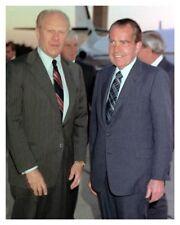 8 x 10 Silver Halide Photo Of Former US Presidents Gerald Ford & Richard Nixon