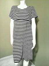 Ma Cherie Maternity Black & White Striped Dress~Size L
