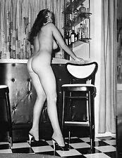 1960s Large Breasts Anita Ventura posing nude in Basement Bar 8 x 10 Photograph