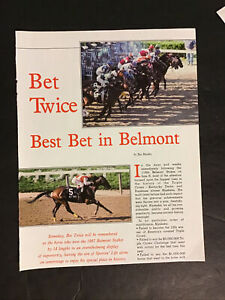 BET TWICE 1987 Article HORSE RACING 1987 BELMONT STAKES