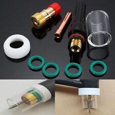 10Pcs TIG Soldadura Antorcha Gas Lens Cristal Cup Kit Para WP-17/18/26 1/16 ''