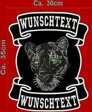 Panther dos patch écusson Haut Bas & motif avec texte.