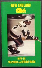1977-78 New England Whalers WHA Hockey Media Guide Gordie Howe 1st Year Photo