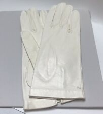White Vintage Leather Gloves for Women New Old Stock Italy Never Worn