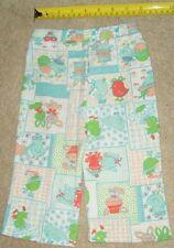 Pair of vintage baby pants retro VTG patchwork pastel animals infant ducks sweet