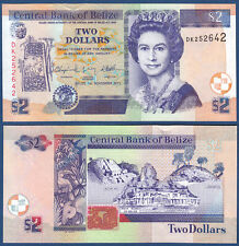 BELIZE  2 Dollars 2011 UNC  P. 66 d