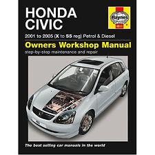 Haynes Manual Honda Civic 2001-2005 X a 55 de registro de la gasolina y diesel