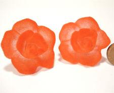 SoHo® Ohrclips Samtrose Velvet Samt Rose hellrot SoHo Trachtenschmuck rot