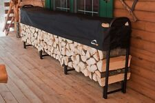 ShelterLogic 12' Covered Firewood Rack 90403 Steel Outdoor Holder Wood Bin