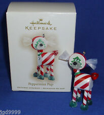 Hallmark Ornament Peppermint Pup 2007 Candy Puppy Dog 2007 NIB