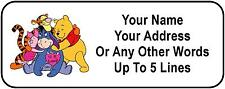 30 Pooh Friends Personalized Address Labels