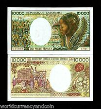 Gabon 10000 10,000 Francs P7 b 1984 Antelope Fruit Unc Rare Africa Currency Note