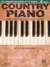 Country Piano Hal Leonard Keyboard Style Instruction Book and Audio 000311052