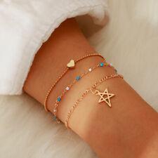 Trendy Star Beaded Chain Bracelets For Women Stainless Bracelets Jewelry Gifts-