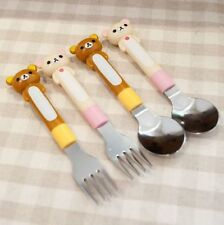 SAN-X Rilakkuma Relax Bear Spoon & Fork Stainless Steel Tableware Accessories