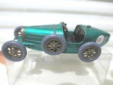 Lesney Matchbox 1961 Models of Yesteryear Y6 1926 Met GREEN BUGATTI GREY Tires