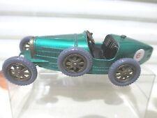 Lesney Matchbox 1961 Models of Yesteryear Y6 1926 Met GREEN BUGATTI GREY Tires
