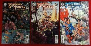 SUPERMAN TARZAN: SONS OF THE JUNGLE #1 2 3 SET (DC / DARK HORSE COMICS, 2001-02)