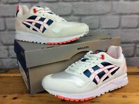 ASICS MENS UK 5 EU 39 GEL SAGA WHITE ORANGE TEAL TRAINERS RRP £100 J