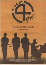 11/2/89Pgn12 Advert: The 4 Of Us Single 'i Just Cant Get Enough' 15x11 FRAMED