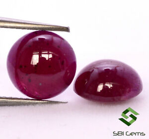 Natural Indian Ruby 22X15 MM Oval Calibrated Cabochon Loose Precious Gemstone.