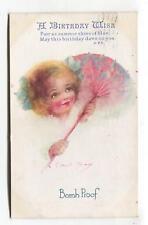 Bomb Proof - little girl & parasol - First World War comic postcard