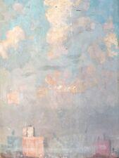Rare Original Elisha Kent Wetherill Impressionist Oil Painting. New York Skyline